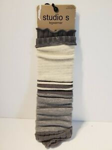 YOGA DANCE popcorn knit extra long leg warmers -LT Gray