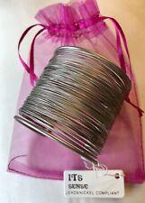 Wire Wrapped Silver Cuff Bracelet