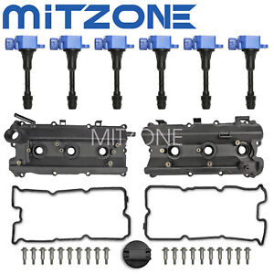 Valve Cover w/ Gasket &Ignition Coil for 03-08 Infiniti M35 G35 FX35 Nissan 350Z