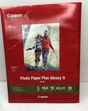 Canon Photo Paper Plus Glossy II Inkjet Photo Paper 8.5x11 20 Sheets PP-301