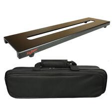 46x12.5cm Aluminum Guitar Effects Pedal Board Pedalboard Setup Kits + Carry Bag