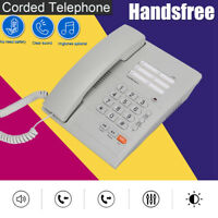 Corded Landline Telephone Desktop Fixed Phone Hand-Free For Home Office Hotel