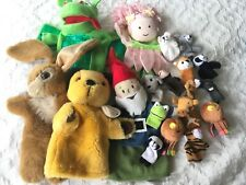 HAND PUPPETS    FINGER PUPPETS    20  PUPPETS  -   BUNDLE