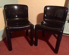 Kartell Carlo Bartoli 4875 Chair - Set of 2 - Black - Great Condition