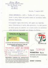""""""" ITALIA 76 """" £ 150 *  FALSO PER POSTA USATO SU CARTOLINA * CERTIFIC. BRUTTO *"""