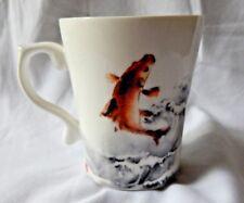 Tais Japanese Brush Painting Koi Carp Calligraphy Mug Cup