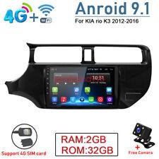Android 9.1 4G 2+32GB Car Radio GPS Navi Stereo DVD Player For KIA Rio K3 2012