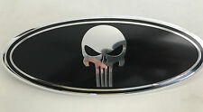 NEW FORD F-150 F250 F350 Punisher Black Chrome  GRILLE TAILGATE Badge Emblem 9''