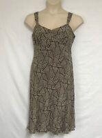 Ann Taylor Size 10P Dress 100% Silk Ties In Back To Fit Waist Strap Dress Petite