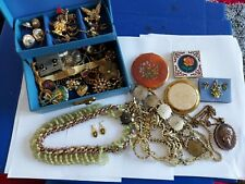 Vintage Antique Jewellery Joblot Bundle Collection In Box Compacts