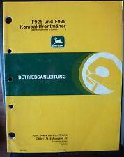 John Deere Frontmäher F925 + F935 Anleitung