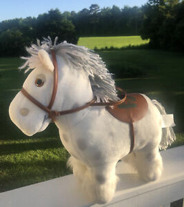 Cabbage Patch Kids Show Pony 1984 Coleco Horse Doll White With Gray Spots Saddle