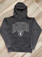 Oakland Raiders NFL Unisex Adult Hoodie Sweatshirt Charcoal NFL Team Apparel M