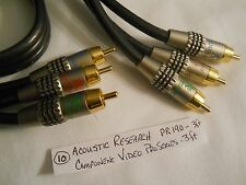 Component Video Cable 3 ft PRO SERIES II PR190 ACOUSTIC RESEARCH - MONSTER