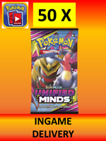 Unified Minds x 50 code Pokemon TCG online Packs INGAME Delivery (no codes)
