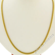 "Vintage Men's Solid 18k Yellow Gold 20"" Curb Cuban Link Chain Necklace 22.60g"