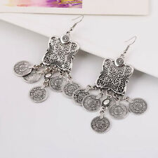 Turkish Style Silver Color Coin Earrings
