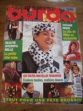 MAGAZINE BURDA TENDANCES MATIERES DOUCES COULEURS TENDRES  11/ 1997
