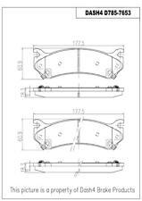 Disc Brake Pad Set-Metallic Pads Front,Rear Pronto PMD785