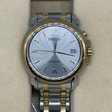 Seiko Kinetic Silver Dial Stainless Steel Watch