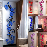 EE_ Home Living Room Decor 3D Flower Removable DIY Wall Sticker Decal Mural Rapt