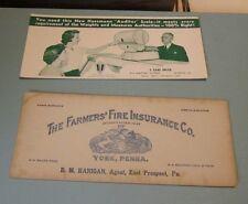 Vintage Pennsylvania 9 Advertising Blotter Lot Coal Poultry Hrobak Beverages