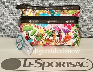 NWT LeSportsac Cosmetic Clutch Sweet Wahine Hawaii Exclusive 7105 K168 P1