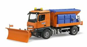 MB Arocs Winter Service Vehicle with Plough Blade Bruder Toy Car Model 1/16 1:16