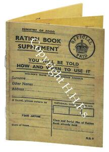 1940s/WW2 Blitz memorabilia Museum quality REPLICA RATION BOOK single book