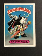 1985 Garbage Pail Kids Series 1 Nasty Nick 1a 1st Series GPK OS1 Matte NM/MINT
