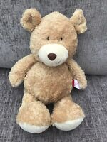 "Tesco Carousel Jack the Bear 17"" Teddy Bear Soft Toy Soft Plush Golden Beige"