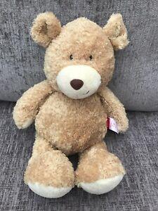 "Tesco Carousel Jack the Bear 17"" Teddy Bear Soft Toy Soft Plush Golden Beige"