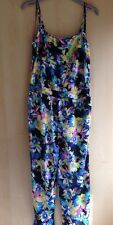 Womens Atmosphere floral jumpsuit size 10 new