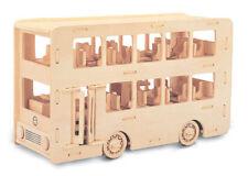 Double Decker Bus Kit Costruzione - legno modello - autoassemblato - Artigianato