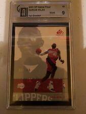 2001 SP Game Floor #63 Darius Miles ROOKIE CARD GAI 9