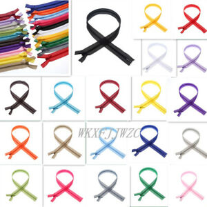 30/60pcs 3# nylon silk zipper (12-20inch) tailor sewing process 20 colors