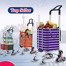 Folding Shopping Carts Duty Stair Climber Hand Truck 2in1 Trolley Baskets New