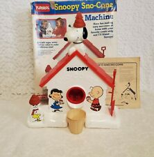 Vintage 1986 Original Playskool Peanuts Snoopy Sno-Cone Snow Making Machine Toy