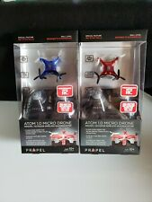 Lot of 2 Propel Atom Micro Drone Wireless Indoor/Outdoor Quadrocopter Blue/Red