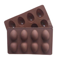8 Cavity Easter Egg Baking Mold Silicone Easter Candy Cake Mold Fondant Cook