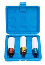 """Lug Nut Socket Set /Thin Wall Deep Wheel Protector 1/2"""" 17 -19 - 21mm"""