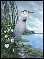 Charts Needlework DIY - Counted Cross Stitch Patterns - Heron 3