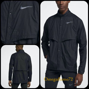 Nike Run Division Running Jacket, Sz XL, 922040-010, Black, Packable, Reflective
