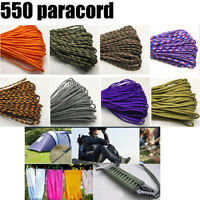 Paracord 550 Parachute Cord Lanyard Rope Mil Spec Type III 7 Strand 25/50/100FT