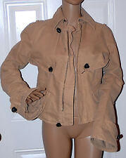 New Runway Authentic $1610 DSQUARED hepburn Beige Jacket 46 or Small Italy