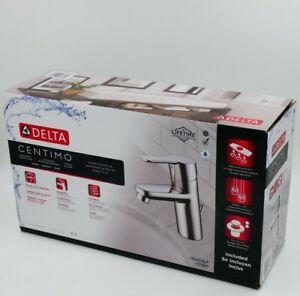 Delta Lavatory Faucet Centimo Chrome Single Handle Incl Pop-up Drain Escutcheon✅