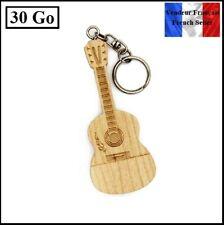 1 Clé USB 2.0 en bois NEUVE 30Go ( Wooden USB Flash Drive 30Gb ) - Guitare
