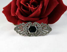 Sterling Silver Sparkling Marcasite 13g Pin Brooch Cat Rescue