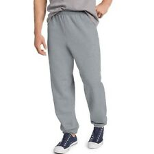 Hanes ComfortBlend Men's Gray Fleece Elastic Bottom Sweat Pants Size 36-38 Large