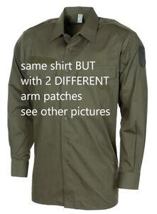 1 Austria Army-Bundesheer - olive drab shirt - Size 41 / Large - NEW - no bag -